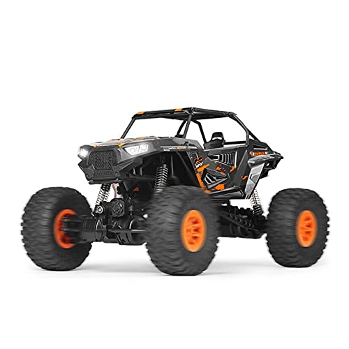 Nsddm 1/10 Escala Coche RC Gran tamaño, 2.4G Coche Control Remoto eléctrico, vehículo Velocidad 4WD Velocidad, Interruptor de Engranajes Alto y bajo con Cabeza Faro LED para Adultos niños