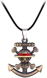 CoolChange collar de One Piece con colgante en forma de sombrero de paja de Monkey D Ruffy
