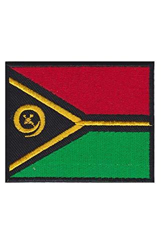 Vanuatu-Flaggen-Aufnäher, bestickt, zum Aufbügeln, Souvenir-Zubehör