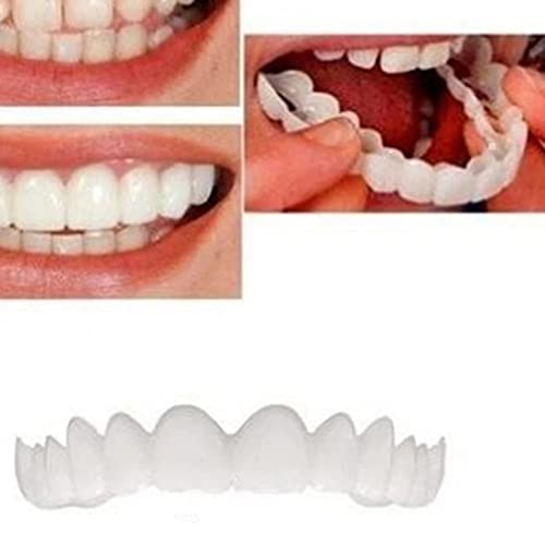 CZsy 2 Pairs Instant Veneers Dentures for Men and Women,Customizable Temporary Fake Teeth,eeth Improve Smile