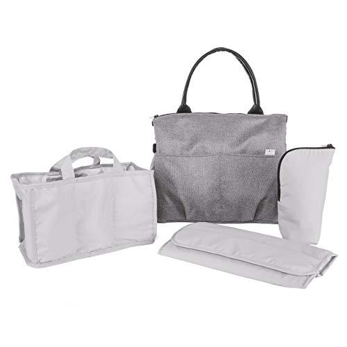 Chicco - Bolso organizador con cambiador, con asas, bandolera o para colgar en el carrito del bebé, color gris (Cool Grey)