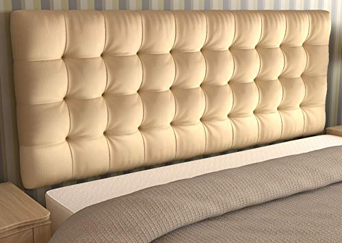 LA WEB DEL COLCHON - Cabecero tapizado Manhattan para Cama de 150 (160 x 70 cms) Beige | Cama Juvenil | Cama Matrimonio | Cabezal Cama |