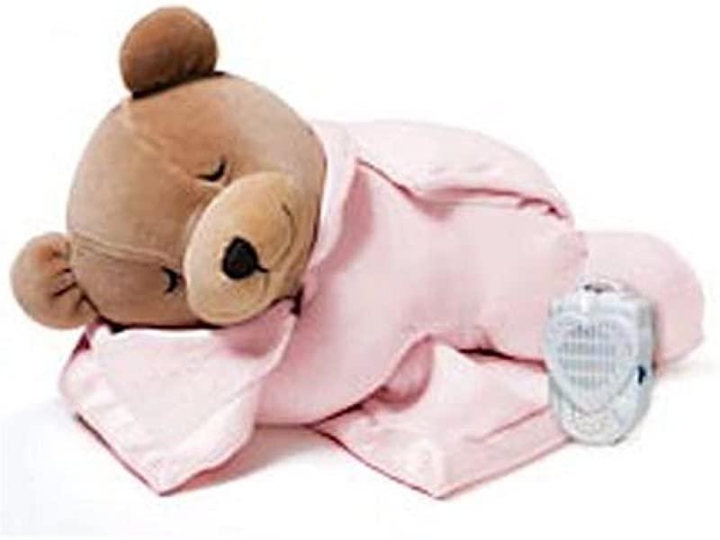 Prince Lionheart Original Slumber Bear With Silkie Blanket Pink