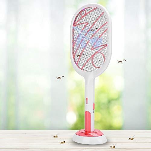 Uxsiya Flyswatter Mosquito Racket Portátil Robusto Conveniente para la Erradicación de Mosquitos(Lightning White)