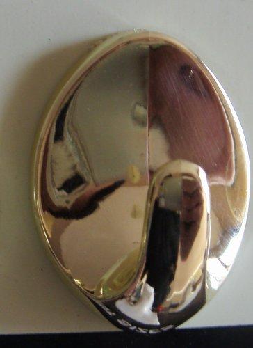 Paire de crochets ovale en or Auto-adhésif - LO63-ovale-Idéal pour aveugles de type Heavy Duty / Fly rideau / Bande de Blind