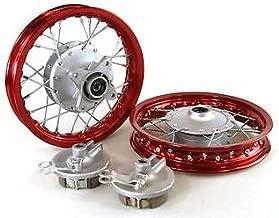 Piranha Red Front & Rear Alum Wheels Rims 10