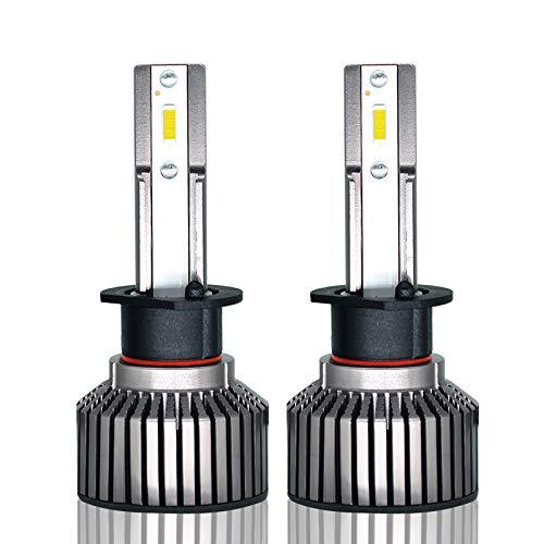 Kit de conversion ampoules de phares à DEL, H1 / H7 6400Lumen 6000K Super Bright CSP Puce tout-en-un phares à DEL étanches - 1 paire (Edition : H1)