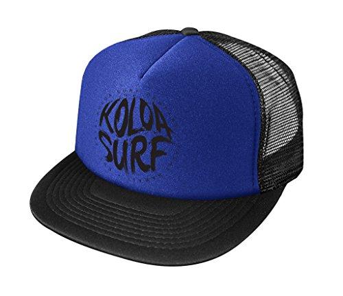 Koloa Surf Brush Logo High Profile Poly-Foam Trucker Hat-Royal/b