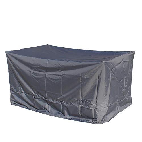YYQIANG - Funda para muebles de exterior, rectangular, color gris, Tejido Oxford, 50*50*50CM