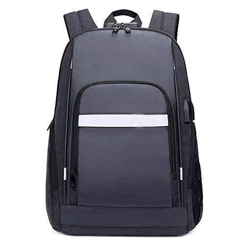 Multi-Function USB Charging Backpack, Casual Fashion Waterproof Oxford Spinning Anti-Theft Business Computer Rucksack Outdoor Hiking Large-Capacity Backpack Unisex School Bag (Color : Black)