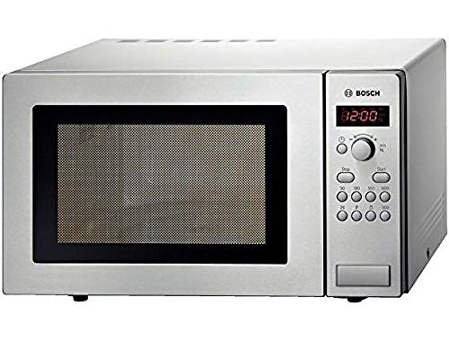 Bosch HMT84M451B Serie 4 Freestanding 900W Microwave Oven, 25 litre, Stainless Steel
