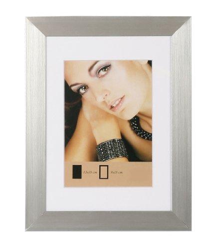 Lady Style Bilderrahmen in Gold Schwarz Silber Weiß Stahl mit Passepartout: Farbe: Silber | Format: 40x60