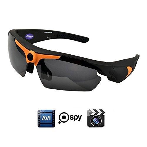 oozimo Gafas de sol Cámara, Full HD 1080p con ángulo de más Mini cámara Vigilancia oculto para exterior deportes