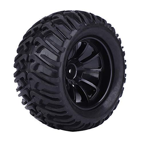 Cocosity Neumático RC Neumático RC Neumático de Coche RC Juego de neumáticos Hex Drive Hub Taller de reparación para la Industria(Black)