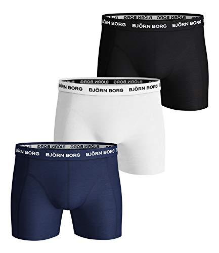 Björn Borg Herren Shorts Noos Solids 3P Boxershorts, Blau (Blue Depths 70102), X-Large (3er Pack)