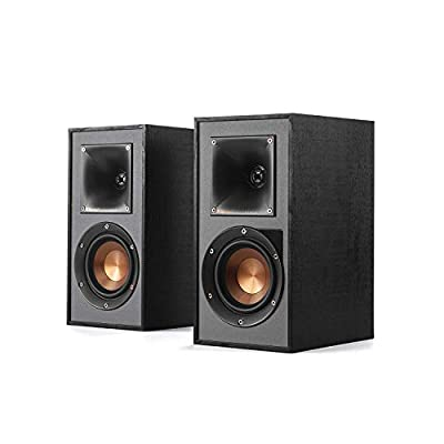 Klipsch Reference R-41PM Active Powered Speakers, Phono Input - Black from Klipsch