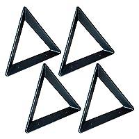 4PCSシェルフブラケット、トライアングルシェルフサポート、壁掛けシェルフサポーター、工業用シェルフブラケットメタルアイアンヘビーデューティーシェルフブラケット/黒 / 20