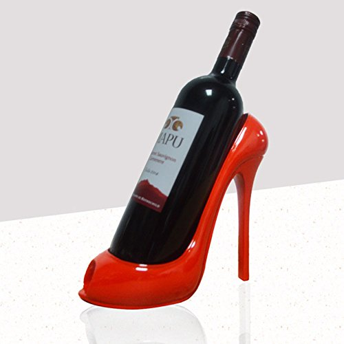 YUYDYU Casier à vin décoratif Titulaire Rouge Chaussures à Talons Hauts Support de Bouteille de vin Dessus de la Table