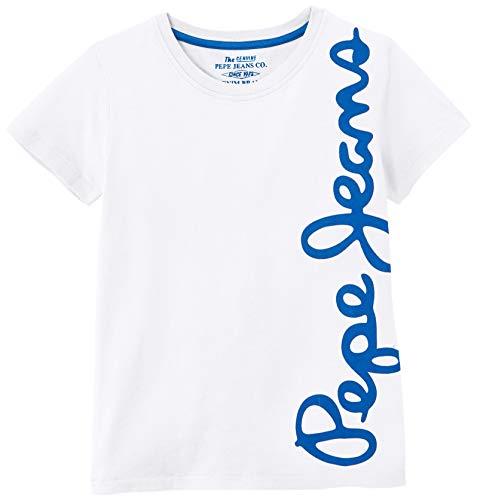 Pepe Jeans Waldo Camiseta, Blanco (Optic White 802), 14 años para Niños