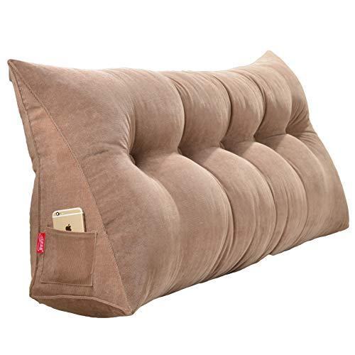 DULPLAY - Cojín de cuña Triangular con Relleno Grande, para sofá, Cama, Respaldo de Lectura, cojín Lumbar de Oficina con Funda extraíble, poliéster, D, 180cm(71inch)