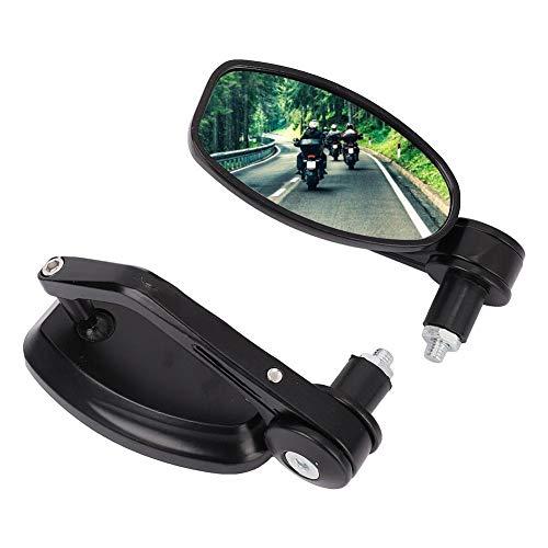 MAGT Specchietto retrovisore per Moto, 1 Paio Manubrio per Bicicletta per Moto Specchietto retrovisore Moto E-Bike Universale modificato Racing Lato retrovisore Specchio Convesso Riflettente Specchio