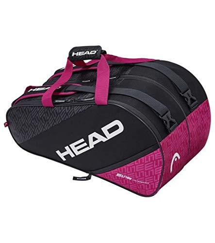 Head Elite Supercombi Bolsa Tenis, Unisex-Adult, Antracito/Fucsia, Largo-6 Palas de Padel