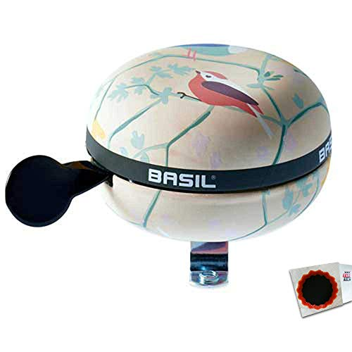 Basil Glocke Big Bell Wanderlust 8x8x7 Ivory + SCHLAUCHFLICKEN