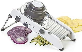 Lekoch Mandoline manuelle réglable en acier inoxydable pour légumes, fruits, julienne, oignons, gaufres, frites