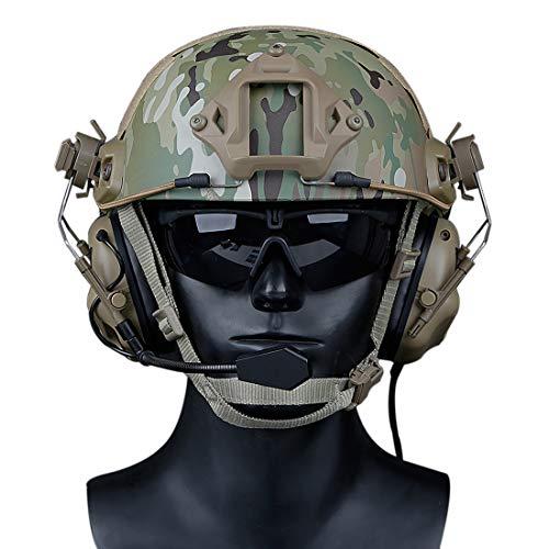 GODNECE Helm Headset Airsoft Headset Taktisch Headset Militär Helm WST Gen.5 Jagd Headset Rauschunterdrückungs Headset (Tan)