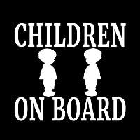 カーステッカー 12.7cmの* 12.7cmのCHILDRENボーイビニールデカール家族赤ちゃん子供の安全車のトラックブラック/シルバー カーステッカー (Color Name : Silver)
