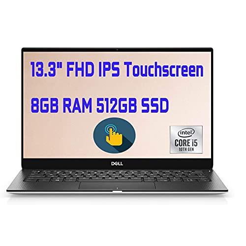 "2020 Newest Dell XPS 13 7390 Laptop 13.3"" Full HD IPS Touchscreen 10th Gen Intel Quad-Core i5-10210U (Beats i7-8550U)8GB DDR4 512GB PCIe SSD BacklitKB FP MaxxAudio Win 10 + iCarp Wireless Mouse"