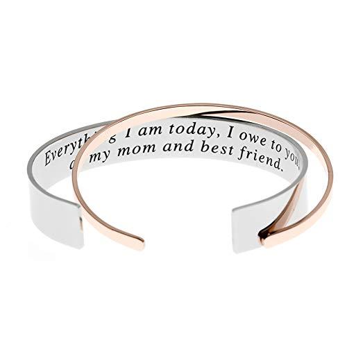 Ms. Clover Pulsera de Regalo para Madre de la Novia con Mensaje Secreto Everything I Am Today I Owe to You