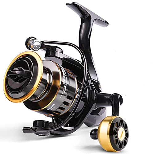 Anti-Corrosión Agua Sal/Agua Dulce Pesca Carrete Carpa Pesca Alta Velocidad Metal Carrete Potente Spinning Pesca Carretes 3000/4000/5000 Ishing 5.2: 1 Max Drag 30 LB
