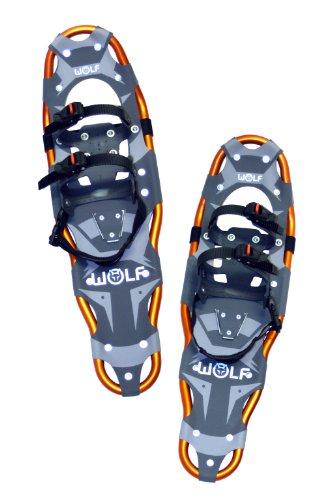 WOLF IMPRESSION 27 rakiety śnieżne (Snow Shoes, raki, buty śnieżne, buty do wędrówek śnieżnych, buty do lodów, pomoc przy wzniesieniu, pazury do butów, boa, harscheis, narty, śnieg, buty śnieżne, kolce, paski na pięcie, łódki śnieżne)