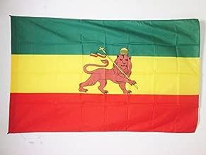 AZ FLAG Bandera de ETIOPÍA 1897-1974 con Leon 150x90cm para Palo - Bandera ETÍOPE Rasta 90 x 150 cm