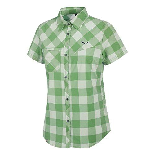 Salewa Puez Dry W S/S SRT - Chemise à Manches Courtes pour Femme, Couleur Vert, Taille 44/38