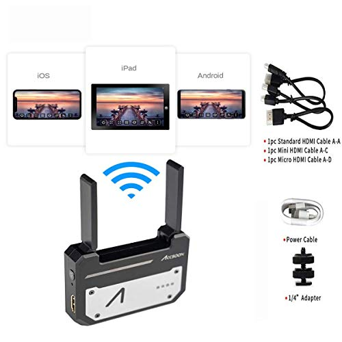 Accsoon CineEye 1080p WiFi HDMI Pocket-Sized Video Transmitter Wireless Image 5G Transmission to 4 Devices in a Distance of 100m, Support Android & iOS, Garyscale, RGB, False Color, 3D LUT Loading