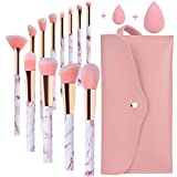 Pennelli Make Up Start Makers Professional 12Pcs Set di pennelli per trucco in marmo rosa ...
