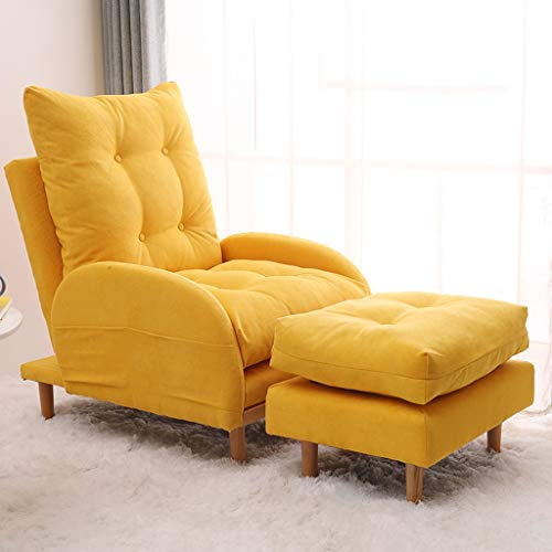 ZFF Recliner Couch Chair ,Adjustable Home Theater Single Recliner Sofa Furniture with Thick Seat Cushion and Backrest Modern Living Room Recliners (Color : Yellow)
