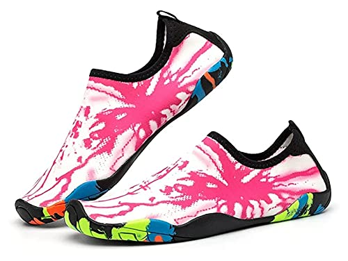 ZKDY Calcetines de la Playa de Verano Zapatos de Agua para Hombres Calcetines de Agua Antideslizante y Resistente al Corte Zapatos de Playa (Color : Pink, Size : 40EU)