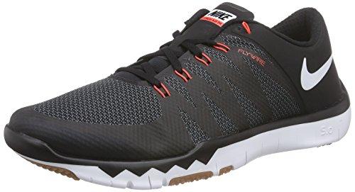 Nike Herren Free Trainer 5.0 V6 Hallenschuhe, Schwarz (Black/White-Cl Gry-Brght Crmsn 016), 45.5