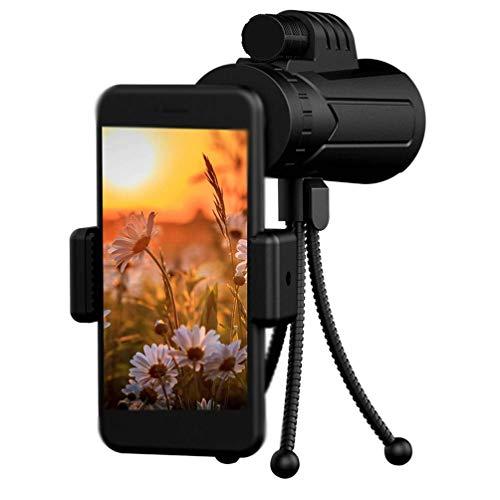Télescope avec Trépied, Télescope Monoculaire pour Téléphone Portable avec Smartphone Holder Et Trépied 10X42 Vision Portable Non Nuit HD Haute Puissance