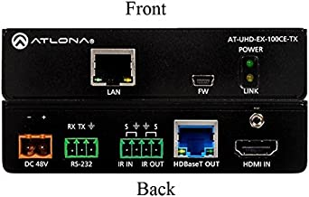 Atlona AT-UHD-EX-100CE-TX 4K/UHD HDMI Over 100M HDBaseT Extender (Transmitter) with PoE