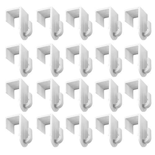 Ideen mit Herz Dekohaken | Fensterhaken | Türhaken | zum Einhängen | Für Deko | 20 Stück | Für Fenster & Türen bis 17mm Dicke | je 2cm x 2,8cm x 3,4cm (weiß)
