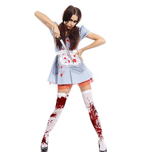 maboobie Costume Robe de Deguisement Alice Monde Femme de Menage pr Halloween