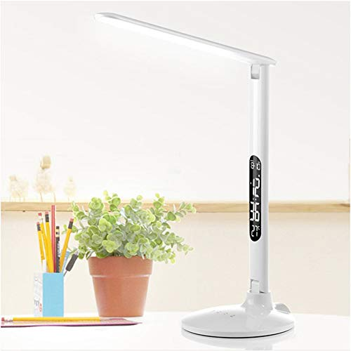 Oikupe Limpfel Foldable Dimbare Touch Table Lamp Lamp met kalender-temperatuur-alarm-klok tabel licht nachtverlichting