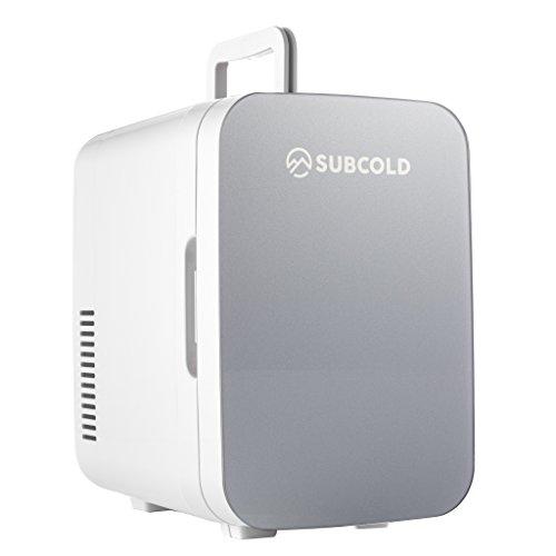 Subcold - Kleiner Mini-Kühlschrank und Wärmer Ultra 10-10 Liter, Kompakt, Tragbar & Leise, AC + DC Stromversorgungsoptionen (Grau)