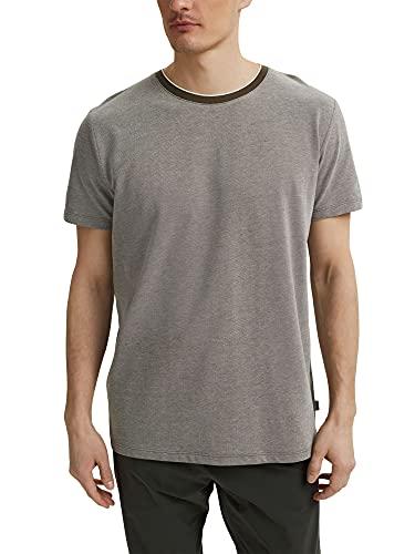 Esprit 031ee2k314 Camiseta, Caqui Oscuro, L para Hombre