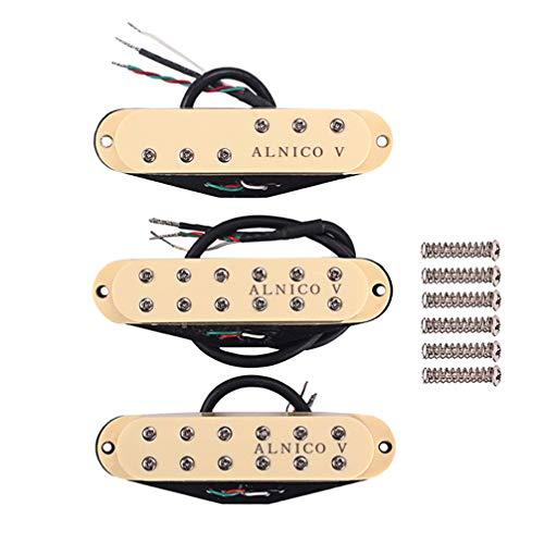 EXCEART Pastilla de Guitarra Pastilla de Cuello de Bobina Simple Pastilla Alnico...