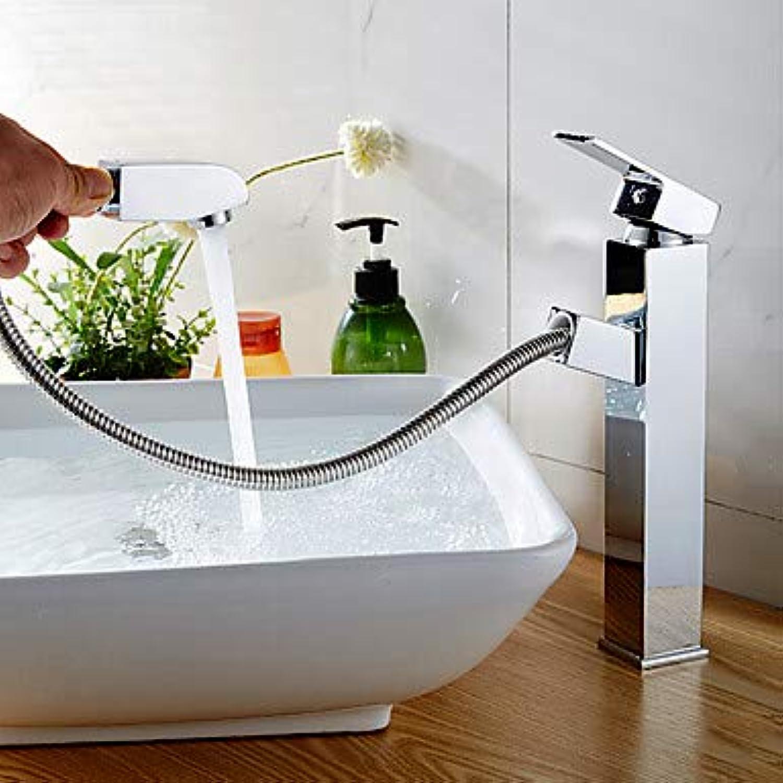 Mangeoo Armaturen für Waschtisch und Wasserhahn - Chrom-Einhebelmischer für Armaturen mit Einhandgriff aus Chrom